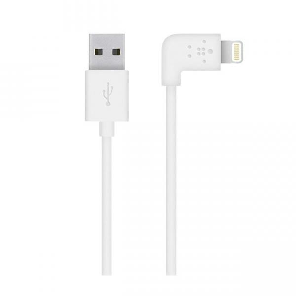 Belkin USB 2.0 Lightning Charge/sync cable 1.2m, White (F8J147bt04-WHT)