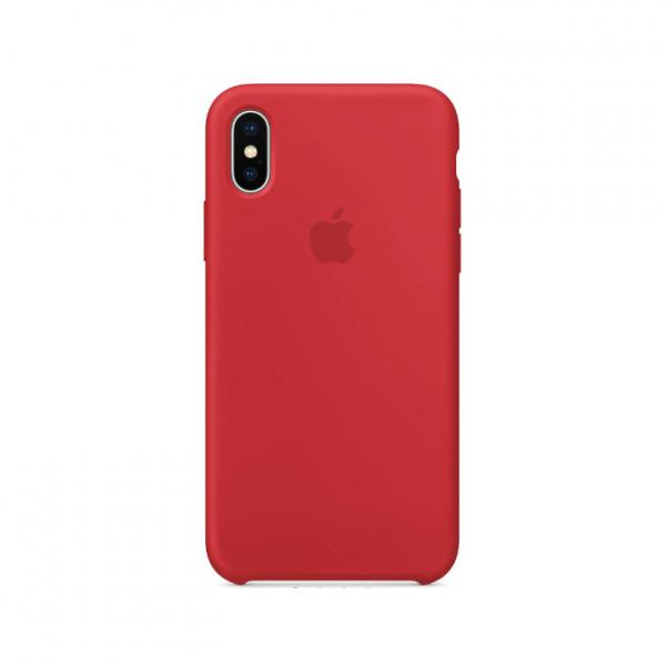 iPhone X Silicone Case Red